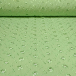 Baumwoll Stoff mit Loch Stickerei