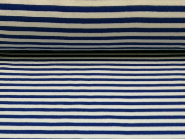 Bündchen Stoff  Blau- Weiss Streifen