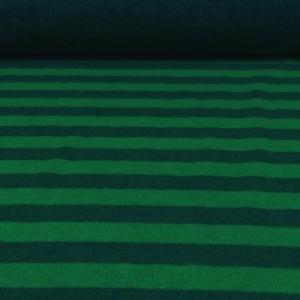 Sweatshirt grün Meliert mit Streifen