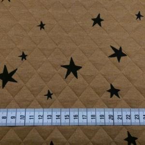 Jersey Gesteppt Ocker mit Sterne
