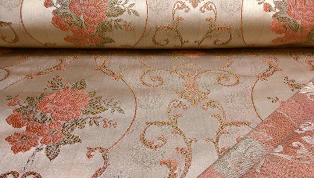 Deko Stoff Gardine Tischdecke Möbel Kissenbezugs Stoff mit Blumen