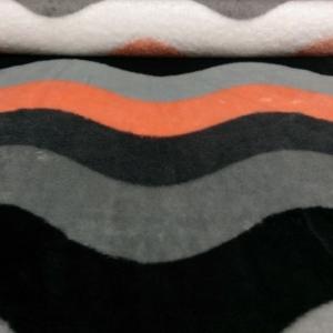 Wellness Fleece Apricot Wellen Muster