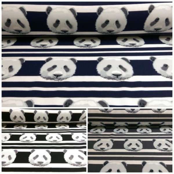 Baumwoll Jersey mit Pandas