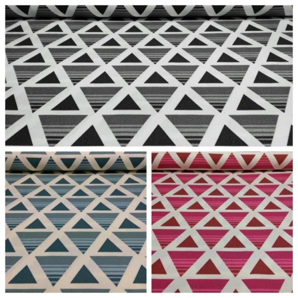 Canvas Stoff mit Dreieck Muster