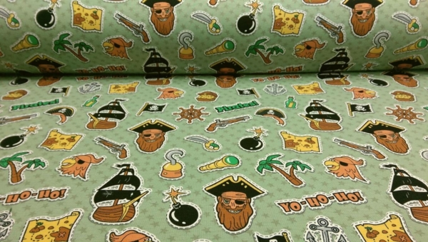 Baumwoll Jersey mit Piraten