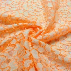 Spitze Stoff Orange Blumen Muster