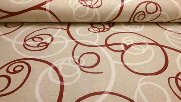 Beschichtetes Baumwoll Stoff mit Ornamenten Muster