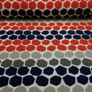 Dekostoff mit Fünfeck Muster