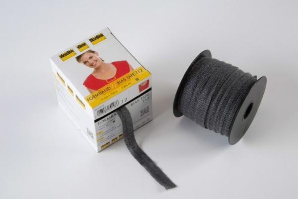 Vlieseline Formband  Bias Tape T12 Graphit