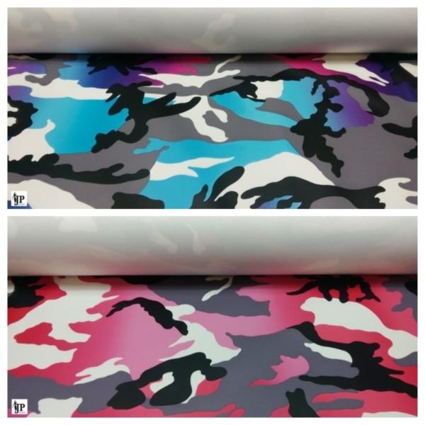Beschichtet Camouflage Dekostoff