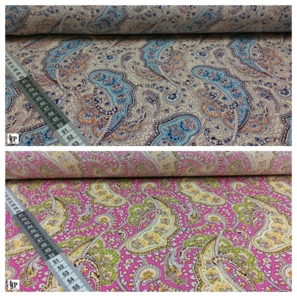 Baumwoll Stoff mit Paisley Muster