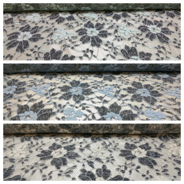 Baumwoll Spitze Stoff mit Blüten Muster