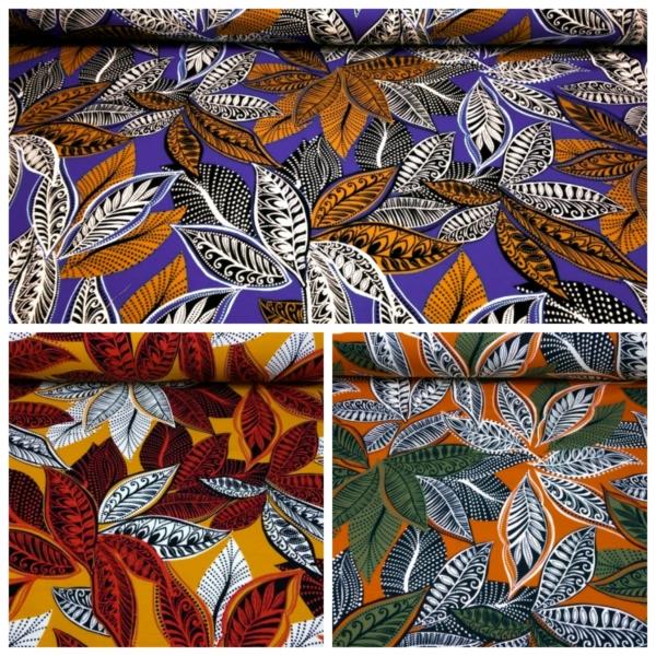Baumwoll Jersey mit Blättern