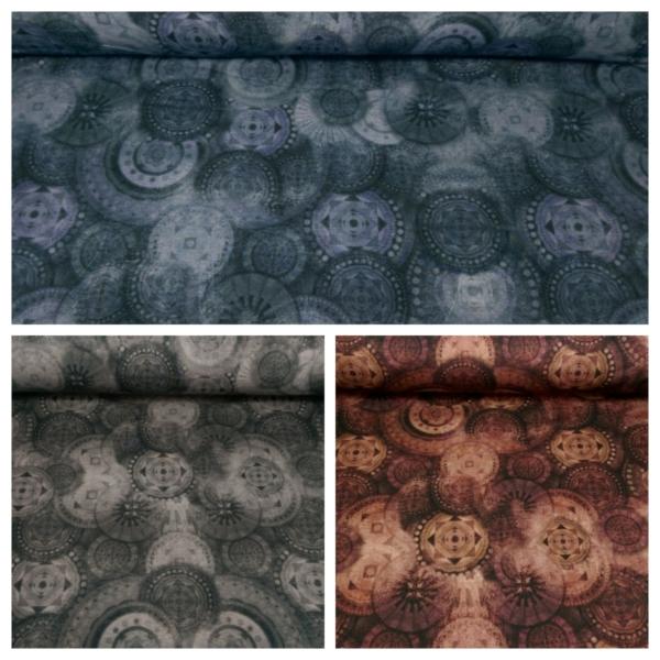Baumwoll Jersey mit Ornamenten Muster