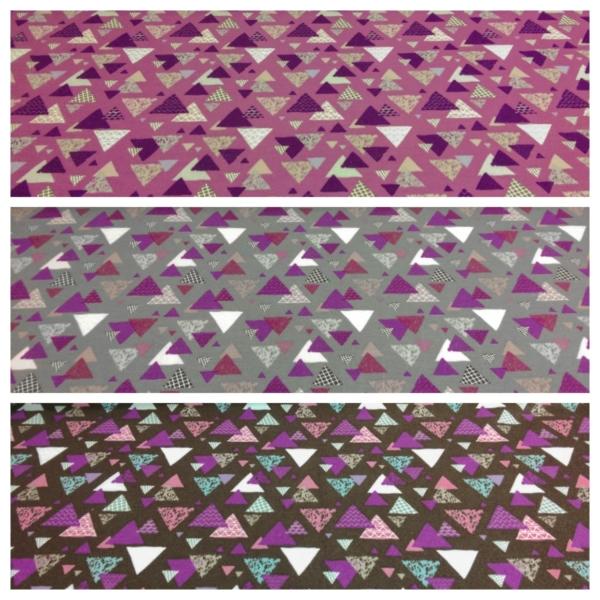 Wintersweat Sweatstoff mit Dreieck Muster