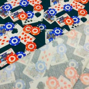 Sommersweat/French Terry mit Karten