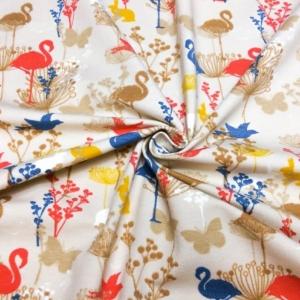 Baumwoll Jersey mit Flamingos