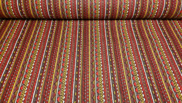 Baumwoll Stoff mit Geometrischen Muster