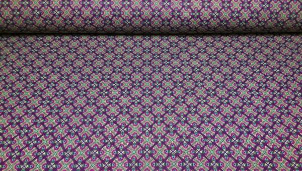 Baumwoll Stoff mit Blumen Muster