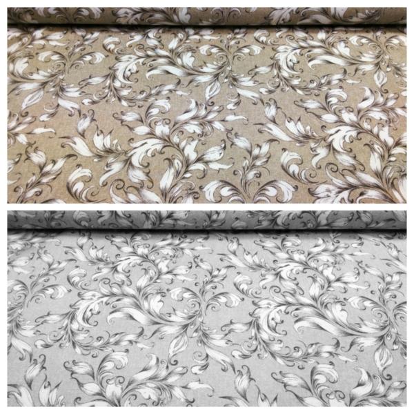 Beschichtetes Baumwoll Stoff mit Blumen Muster