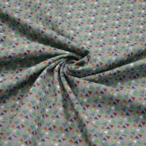 Baumwoll Stoff mit Dreiecke