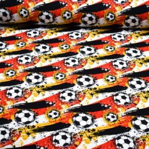 Baumwoll Jersey mit Fußball Deutschland