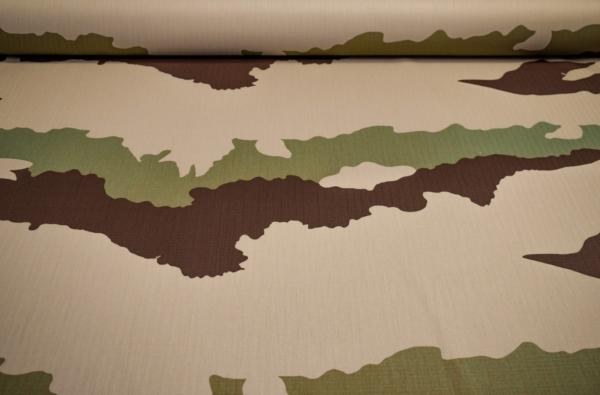 Baumwollstoff mit Camouflage Muster
