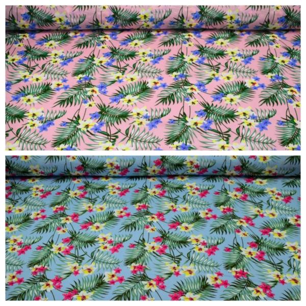 Viskose Stoff mit Blumen Muster