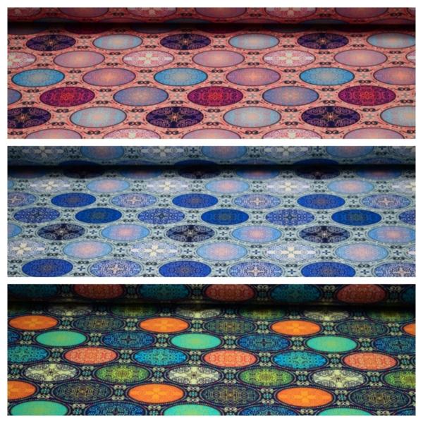 Baumwolle Jersey mit Orientalische Ethno Motiven