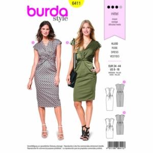 Burda Schnittmuster 6411 Damen Kleider