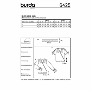 Burda Schnittmuster 6425 Damen Wickel-Blusen