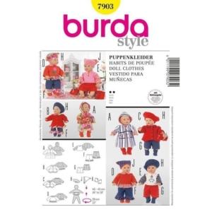 Burda Schnittmuster 7903 Puppenkleider Kombination