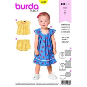 Burda Schnittmuster 9338 Baby Kombination