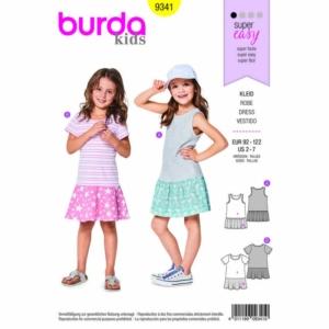 Burda Schnittmuster 9341 Kinder Kleid