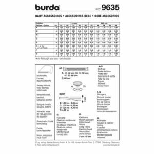 Burda Schnittmuster 9635 Baby Accessoires
