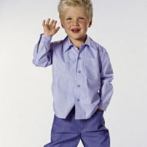 Burda Schnittmuster 9792 Kinder Kombination: 3 Hemden