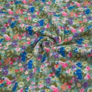 Musselin Stoff - Baumwolle mit Blumen