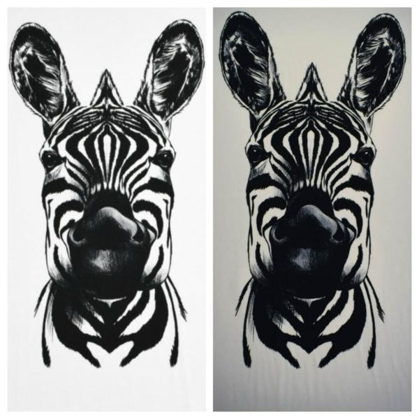 Baumwoll Jersey mit Zebra`s Rapport