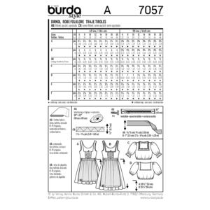 Burda Schnittmuster 7057 Damen Dirndl mit Bluse