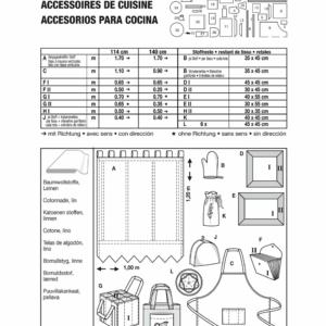 Burda Schnittmuster 8125 Küchen-Accessoires