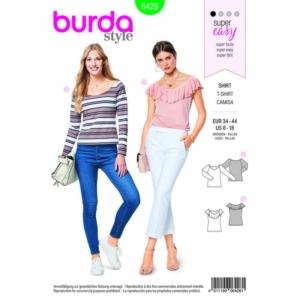 Burda Schnittmuster 6428 Damen Blusen mit Ballett-Ausschnitt