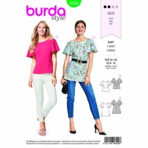 Burda Schnittmuster 6429 Damen Blusen-Shirts