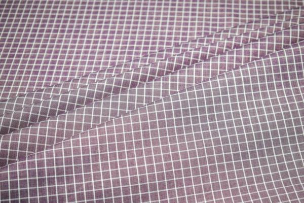 Baumwoll Hemd Stoff mit Karo Muster