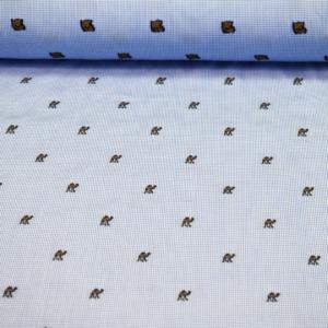 Baumwoll Hemd Stoff mit gestickte Kamele