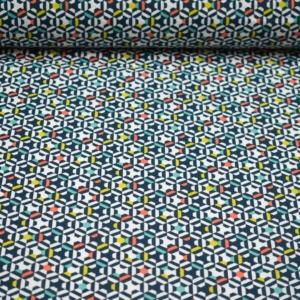 Baumwoll Stoff mit Geometriemuster