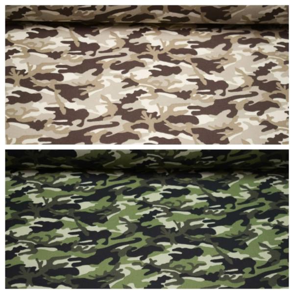 Baumwoll Stoff mit Camouflage