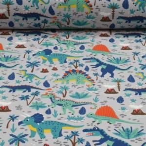 Baumwoll Jersey mit Dinosaurier