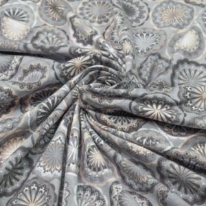 Baumwoll Jersey mit Blumenmandala