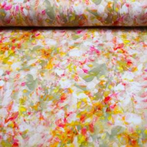 Viskose Jersey Stoff mit Blumen