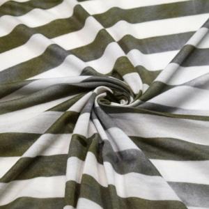 Viskose Jersey Stoff mit Streifen